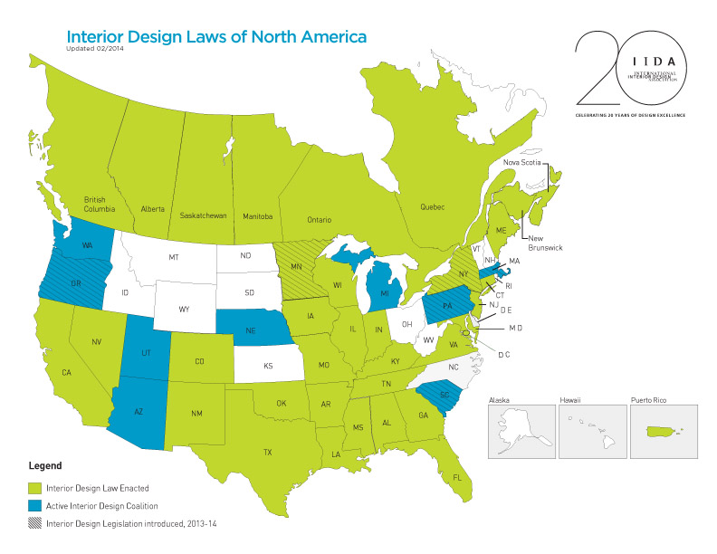 Interior Design Licensed States